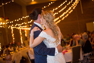 Weddings- couple dancing at PVCC